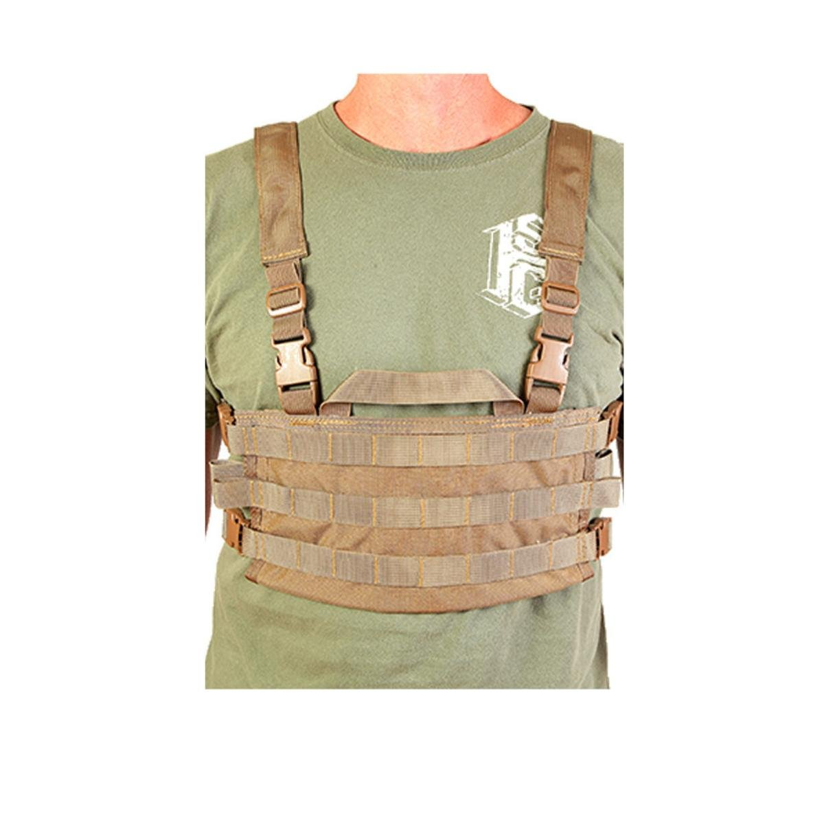 High Speed Gear AO Small Modular Chest Rig Battle Proven & USA Made Coyote Brown