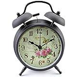4' Réveil Classique PAPILLON NOIR fleur vintage Lits de Bell réveil réveil de jardin