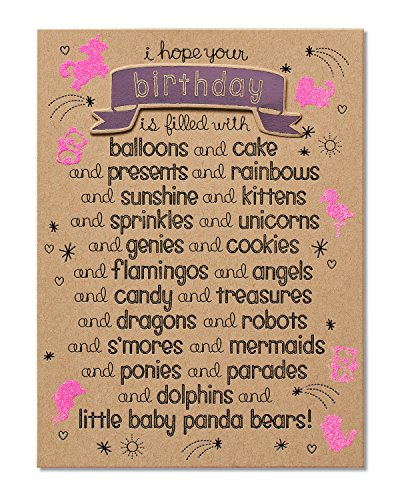 American Greetings Funny Baby Panda Bears Birthday Card with Glitter - 5856668