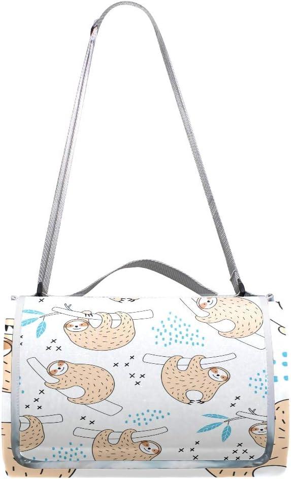 XINGAKA Coperta da Picnic Tappetino Campeggio,Nuvole Disegnate a Mano del Modello Senza Cuciture Sveglio,Giardino Spiaggia Impermeabile Anti Sabbia 19