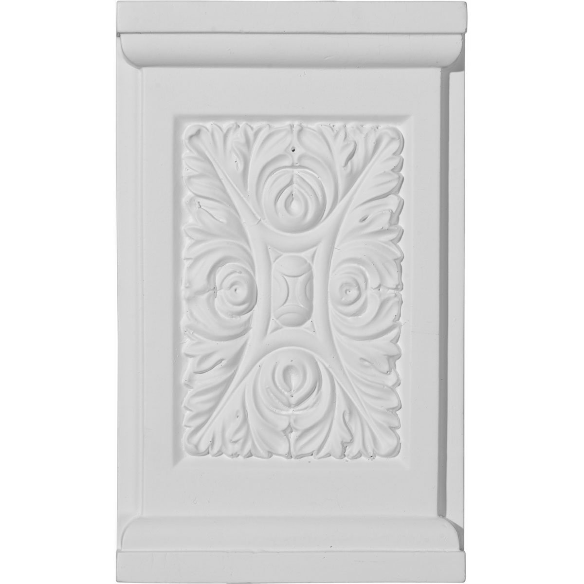 Ekena PB05X08X01ME 5 1/4-Inch Width x 8 5/8-Inch Height x 1 1/4-Inch Projection Medway Plinth Block - Primed