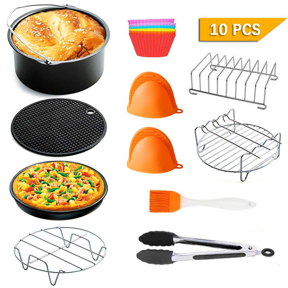 7 inch Air Fryer Accessories,for Phillips Air Fryer and Gowise Air Fryer Fit all 3.2QT-4.3QT (Round)