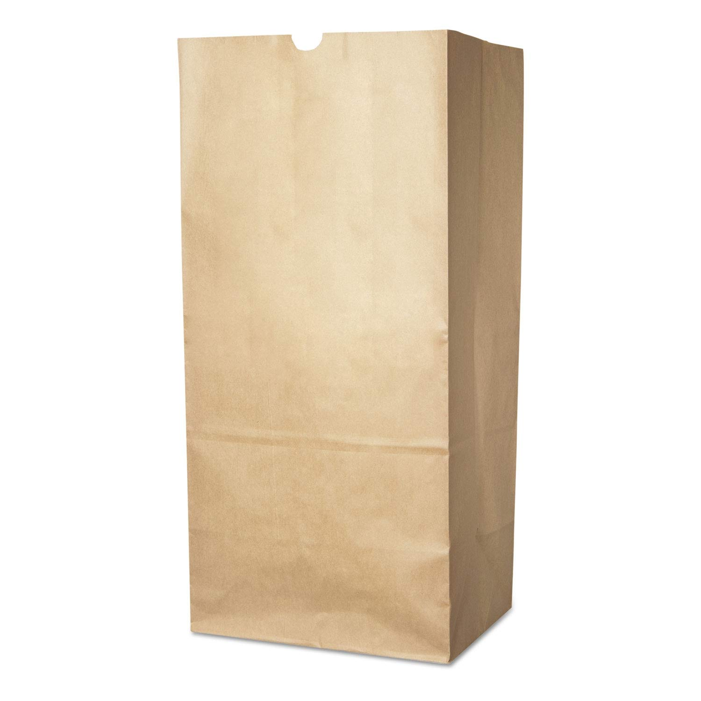 Duro Bag Lawn/Leaf Self-Standing Bags, 30 gal, 16 x 12 x 35, Kraft Brown, 50/Carton - 13818