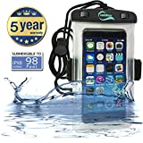 SafeWays iPhone Armband Waterproof & Running Case - Incredibly Easy To Seal Securely - Compatible With All iPhone Models (including iPhone 7 Plus), Samsung, HTC, Sony, Nokia - All Phones Up To 7