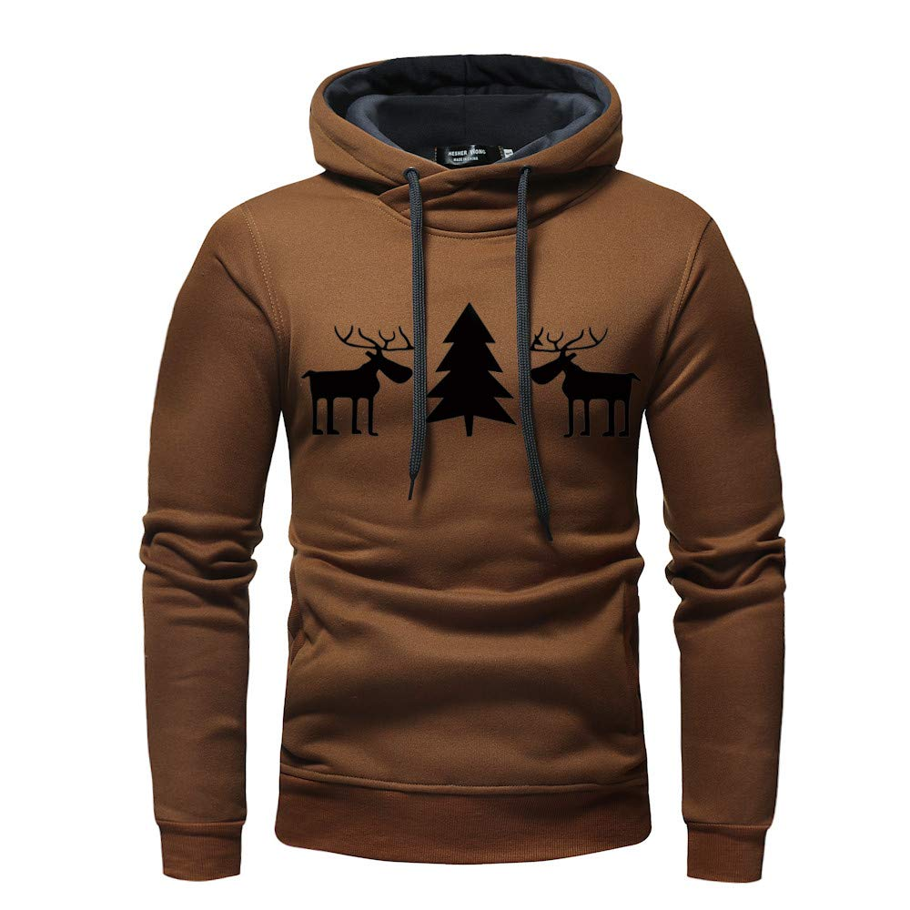 SamMoSon Men Autumn Winter Pullover Top Printed Christmas Sweatshirt Outwear Blouse 2018-hoodies 131