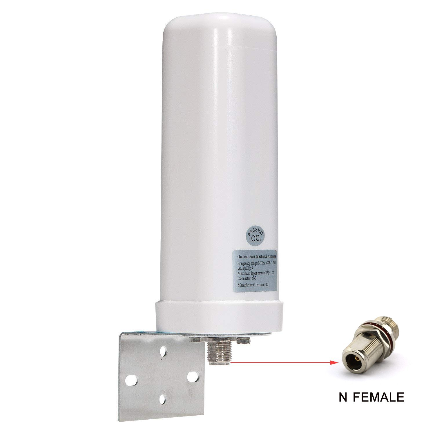 Lysignal Outdoor Omni-directional Antenna 698 to 2700MHz 9dBi for Moble Signal Booster LYCHEE LIMITED 06-022-043