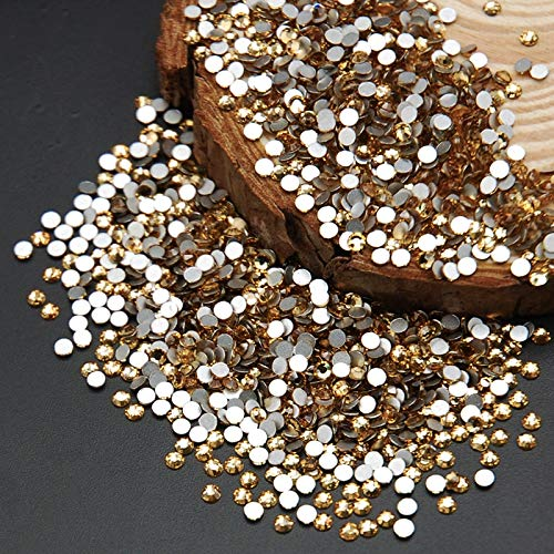 (Kamas SS3-SS30 Light Colorado Color Glass Non Hotfix Flatback Rhinestone Nail Rhinestones For Nails 3D Nail Art Kamas (Color: ss12 1440pcs))