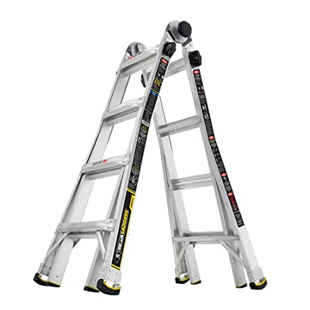 Reach MPX Aluminum Multi-Position Ladder with 375 lb. Gorilla Ladders 14 ft