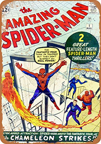 Wall-Color 9 x 12 METAL SIGN - Amazing Spider-Man #1 - Vintage Look Reproduction