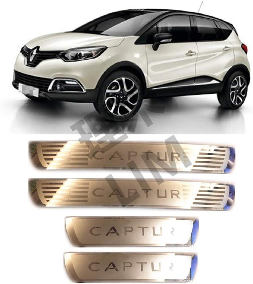 Barre De Seuil De Voiture Pour Renault Captur Kaptur 2014 2015 2016 2017 2018 2019 2020 seuils De Porte Autocollants Bandes De Protection Plaque De Protection Bienvenue P/éDale Protecteur Autocollants