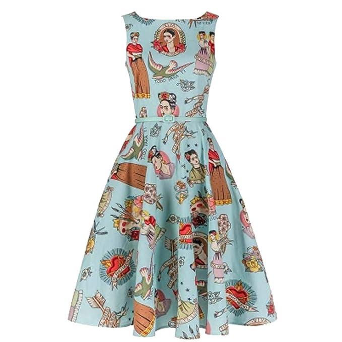 Monmoira Frida Kahlo Vestido De Verano Para Mujer Diseño Clásico
