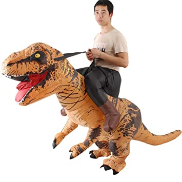 AmaMary T-Rex Costume Hombre Mujer Paseo Tyrannosaurus Inflable ...