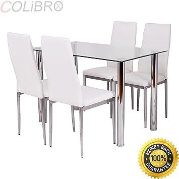 Amazon.com: colibrox -- 5 piezas Juego de mesa de comedor y ...