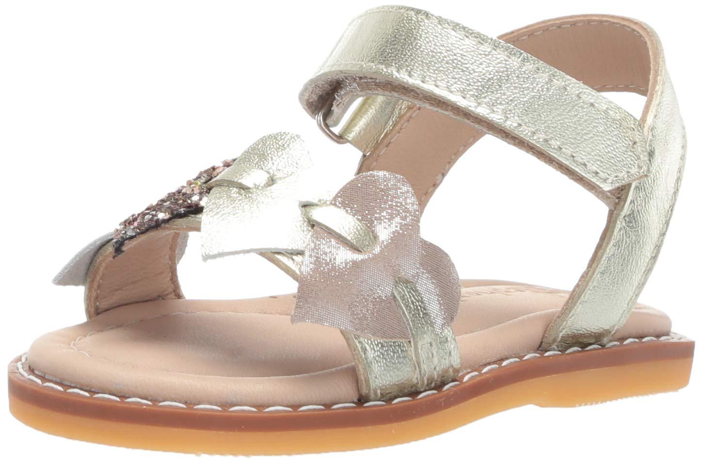 Elephantito Girls' Caro Cuore Sandal, Gold, 8 Medium US Toddler by Elephantito