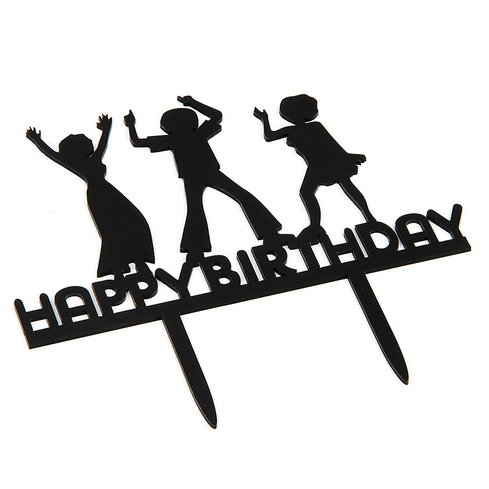 amazon a series of happy birthday dance acrylic cake topper 46th Disco Party amazon a series of happy birthday dance acrylic cake topper various birthday cake supplies decorations black toys games