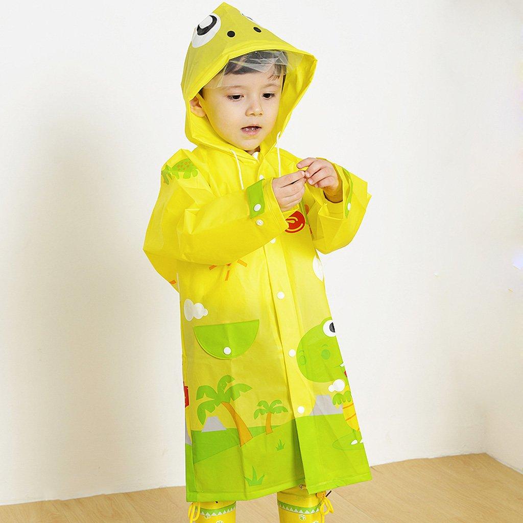 Liling Niños Raincoat Kindergarten Alumnos Protección Ambiental EVA Inodoro Chicos y Niñas con Impermeables con Capucha Poncho (Size : L) huwai
