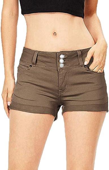 Vaqueros Para Mujer Pantalones Cortos Mujer Verano Pantalones Cortos De Mezclilla Para Mujer Color Solido Jeans Para Mujer Pantalones Cortos Transpirables Pantalones Calientes Para Mujer Amazon Es Ropa Y Accesorios