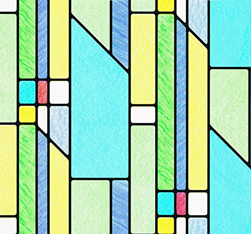 d-c-fix Self-Adhesive Privacy Glass Window Film, Busko Stained Glass, 17.71'' x 59'' Roll, 346-0116 by DC Fix