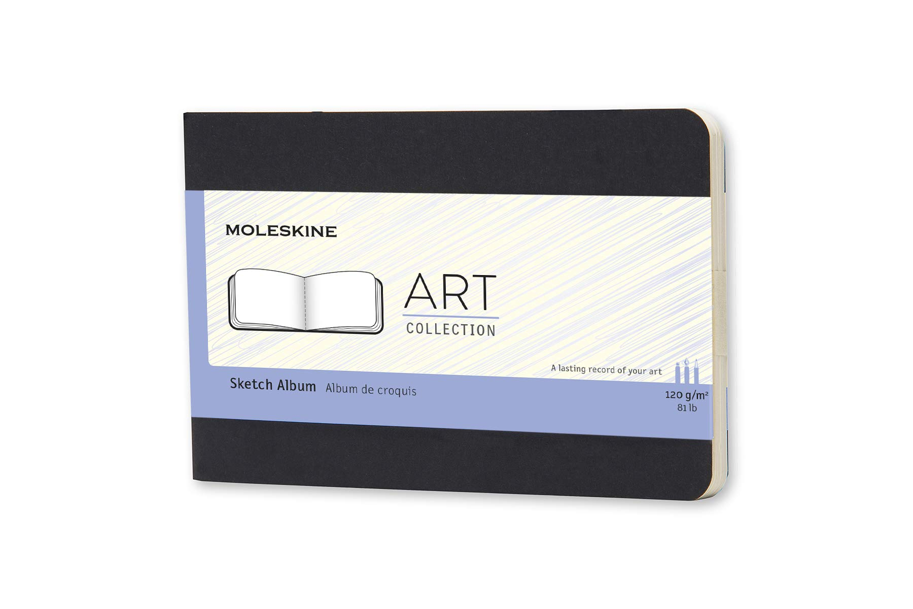Moleskine Art Plus Hard Cover Sketch Album, Plain, Pocket...