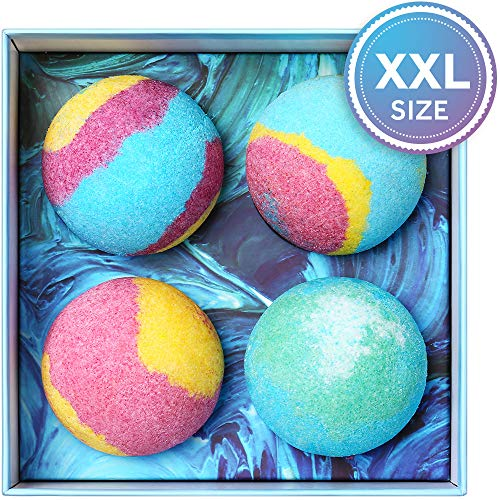 Bath Bombs Gift Set, 5.5 Oz Each Luxurious Bath Bomb Kit with Essential Oils, Lush Spa Floating...