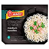 Amoy Straight to Wok Medium Noodles (4 per pack - 600g) - Pack of 2