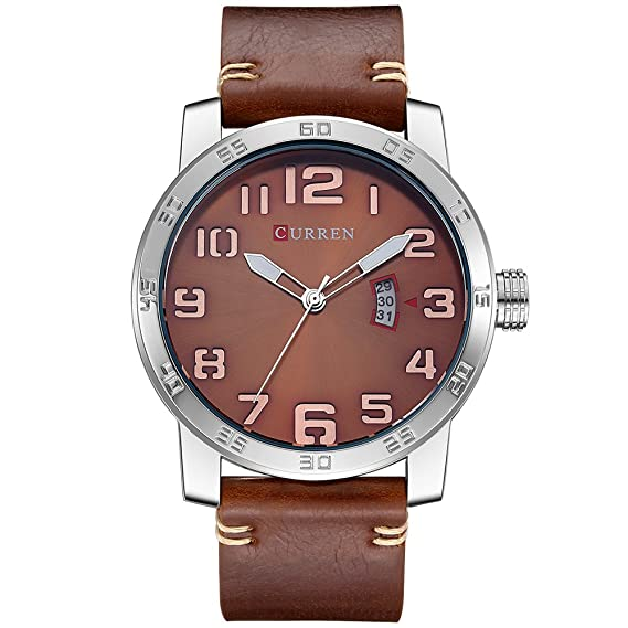 Curren Relojes Hombres Reloj de pulsera de lujo Hombre Reloj Casual Negocios de moda Reloj negro Relogio Masculino: Amazon.es: Relojes