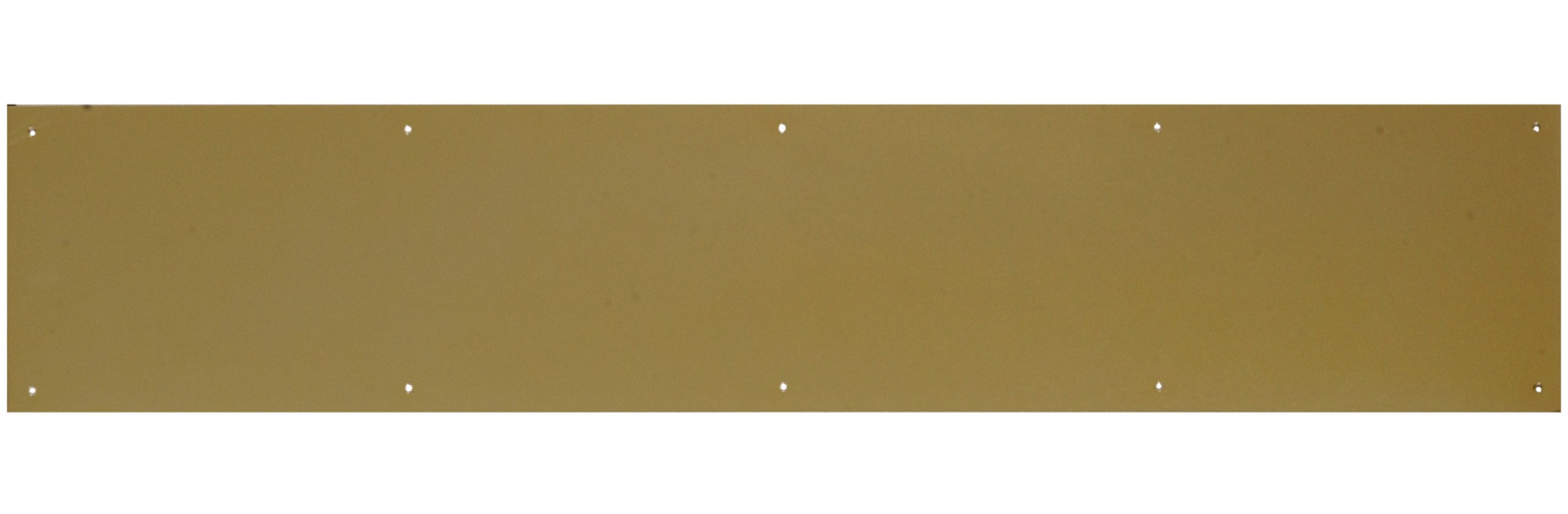 The Hillman Group 852739 6 x 34'' Aluminum Kick Plate - Bright Brass Finish 1-Pack