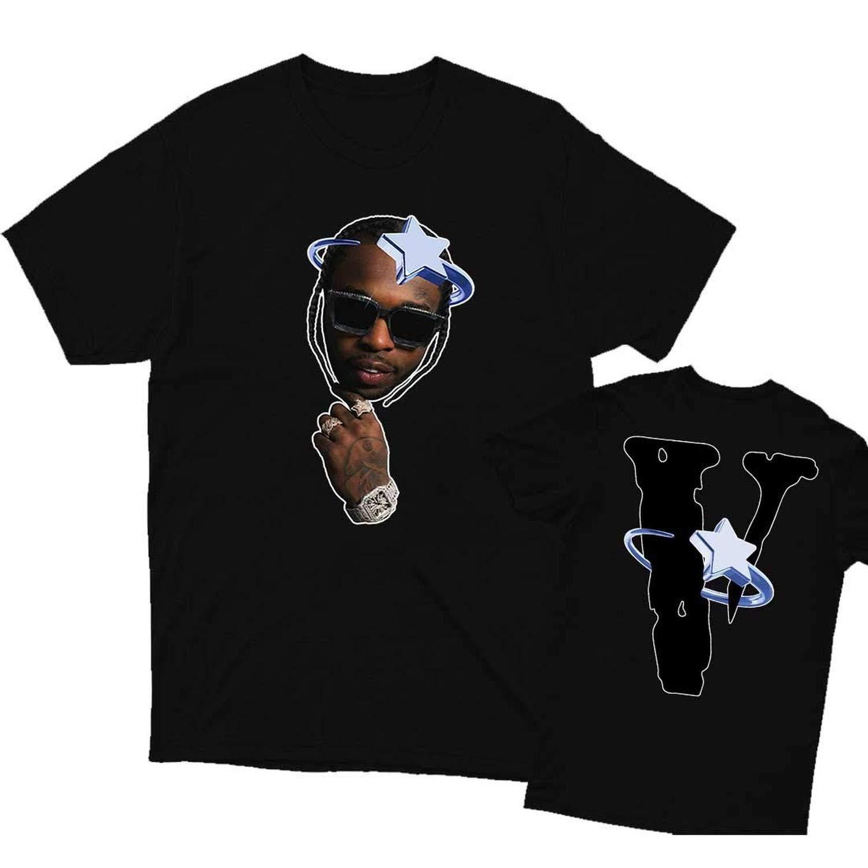 Vintage Pop Smoke X Vlone Halo T Shirt Youth Shirt Kid Shirt Man Shirt Woman Shirt Long Sleeve T Shirt Crewn DMN Tshirt Black