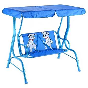 Amazon Com Aromzen Outdoor Kids Patio Swing Bench With Canopy 2