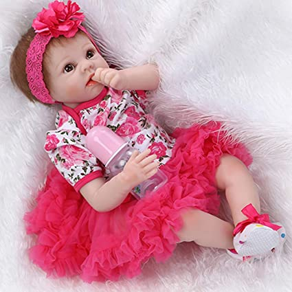 USA 55cm Newborn Dolls  NPK Reborn Baby girl  doll Silicone Limbs cotton   Toys