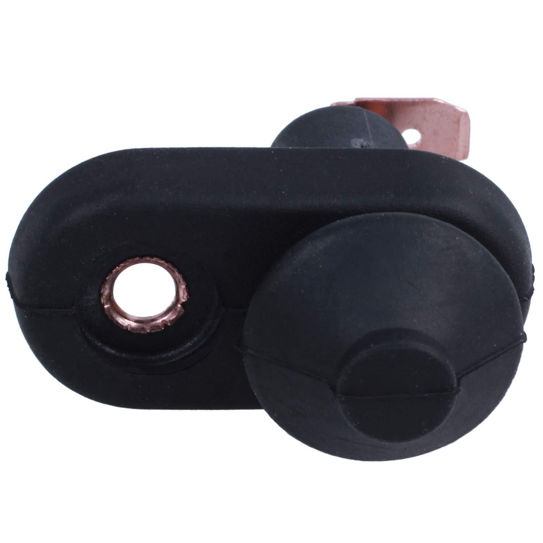 SODIAL 5 piezas negro puerta lampara luz interruptor montaje por coche R