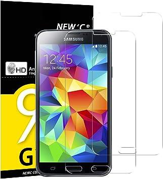 NEWC 2 Unidades, Protector de Pantalla para Samsung Galaxy S5 ...