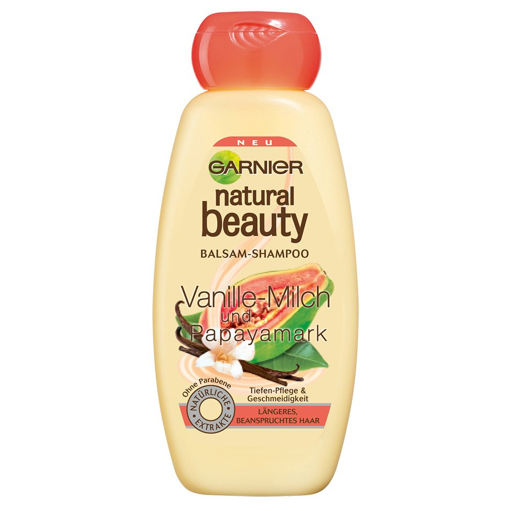 Garnier Natural Beauty, Shampoo e Balsamo Alla Vaniglia, 300 ml [Versione tedesca] 0 03437