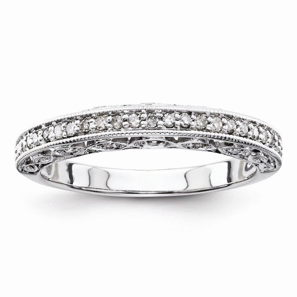 925 Sterling Silver Half Eternity Wedding Band for Women Size 8 (0.25ct, H-SI2)