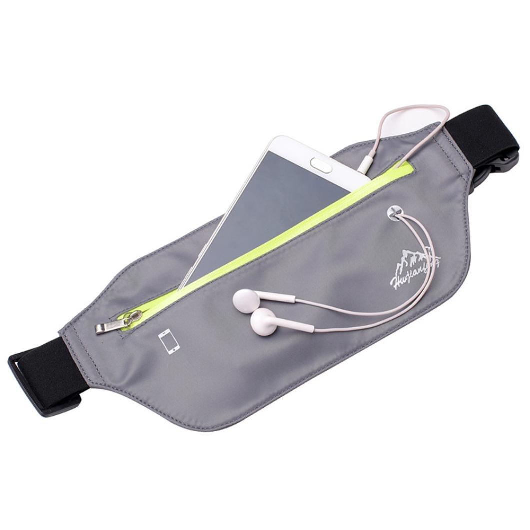 para Deportes al Aire Libre Nailon Bandolera Ri/ñonera Impermeable Winkey Bolso de Pecho Correr