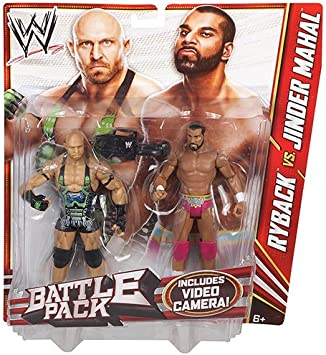 WWE Battle Pack Series 22 Ryback and Jinder Mahal Wrestling Action Figures by Mattel: Amazon.es: Juguetes y juegos
