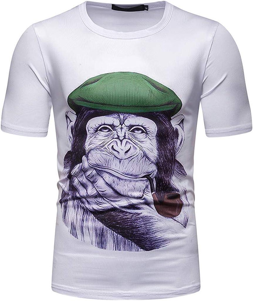 Internet_Hombre Moda de Verano Personalidad Impresión de Gorila 3D ...