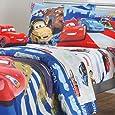 Disney Cars Track Burn 4pc Full-Double Bed Sheet Set
