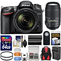 Nikon D7200 Wi-Fi Digital SLR Camera & 18-140mm VR DX & 55-300mm VR Lens with 64GB Card + Backpack + Battery/Charger + Filters + Remote + Kit Overview Review Image