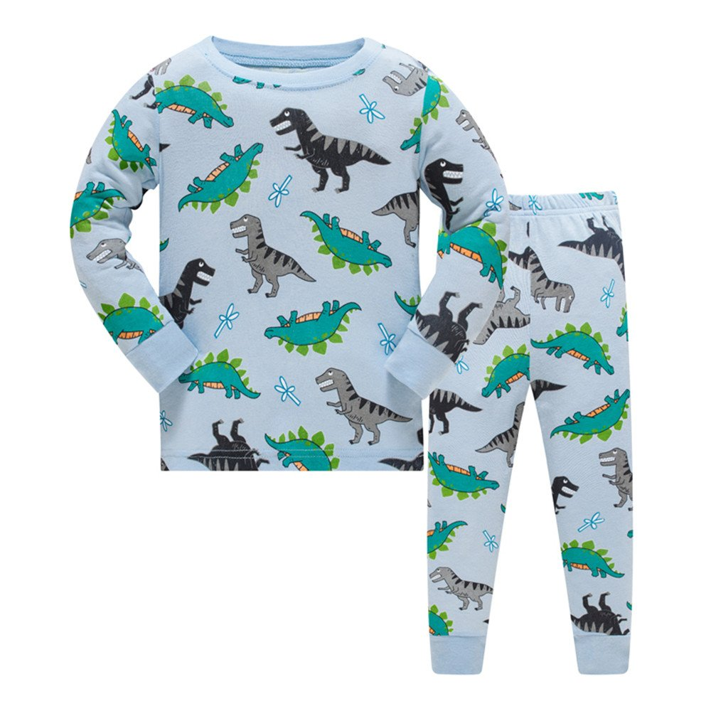 Tkala Fashion Boys Dinosaur Pajamas Children Clothes Set 100% Cotton Little Kids Pjs Sleepwear (3T, Pajamas1)