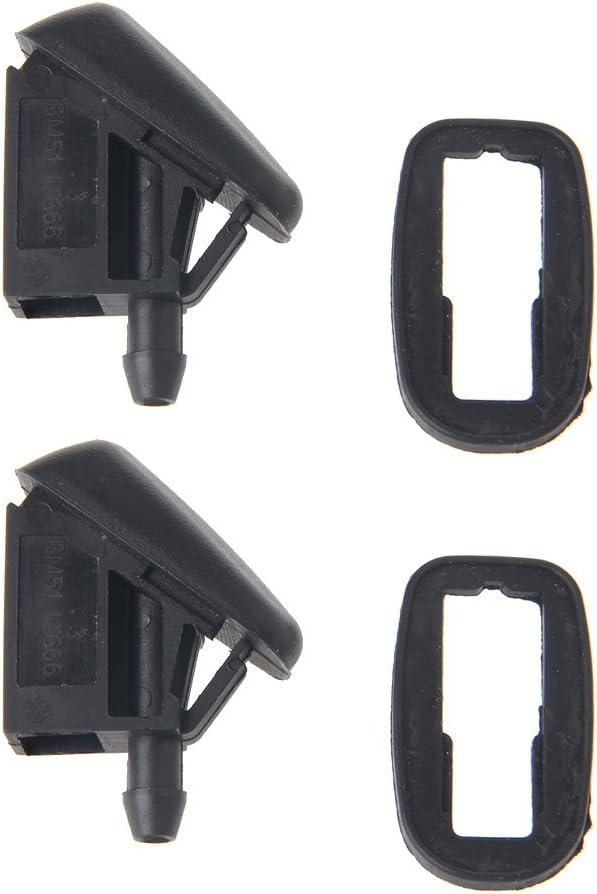 Autoparts 2 pcs ventilador forma de pulverizador de agua parabrisas limpiaparabrisas Jet Arandela Boquilla para Ford Focus 2 MK2 MK3: Amazon.es: Electrónica