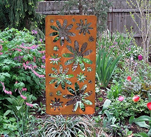 (Privacy Screen/Accent Screen (Available as a wall hanging or a Garden Stake))