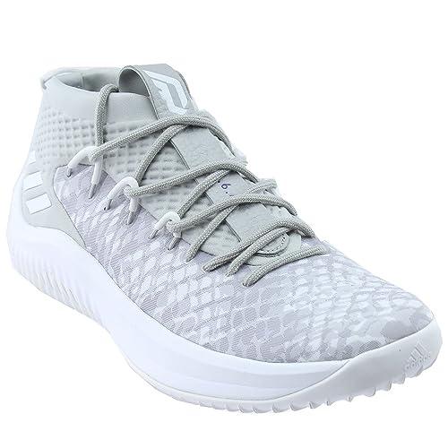 super popular 2bffe 18da8 adidas Dame 4 Shoe Mens Basketball 8 Grey-White