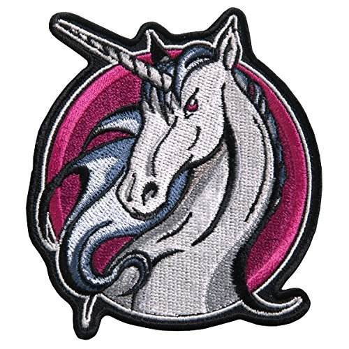 Hot Leathers, UNICORN, Iron-On / Saw-On High Thread Rayon PATCH - 3.5