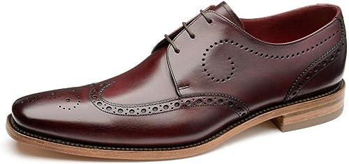 Loake Kruger Burgundy Leather Mens