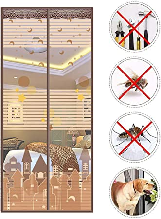 Cortina De Malla Anti Mosquito Bugs Mosquitera Magnética Para Puerta,mascota Amigable Mosquitera Magnética,mosquitera Puerta Magnetica Marco Completo Q 105x215cm(41x85inch): Amazon.es: Bricolaje y herramientas