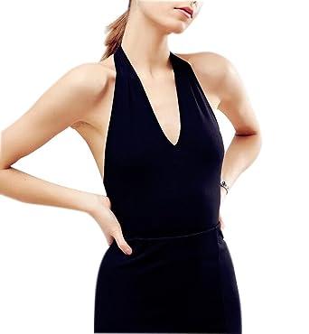 eb6e8b801bcc Guyay Women s Sexy Summer Tops Halter Strap Bra V Neck Tank Top Vest  Sleeveless Sport Cotton