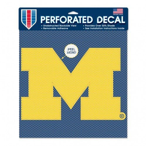 WinCraft NCAA University of Michigan Perforated Vinyl Decal, 12