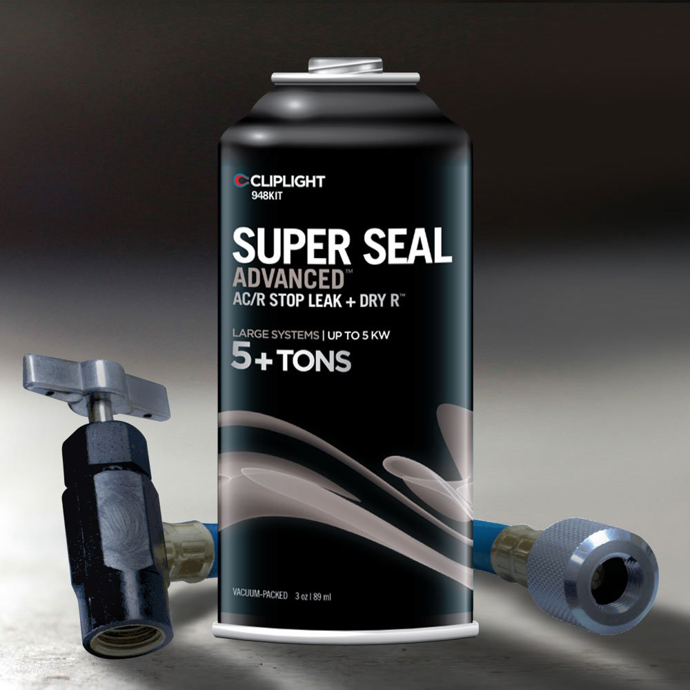 Cliplight Super Seal Advanced 948KIT - Permanently Seals & Prevents Leaks in Commercial A/C & Refrigeration Systems 5+ Tons
