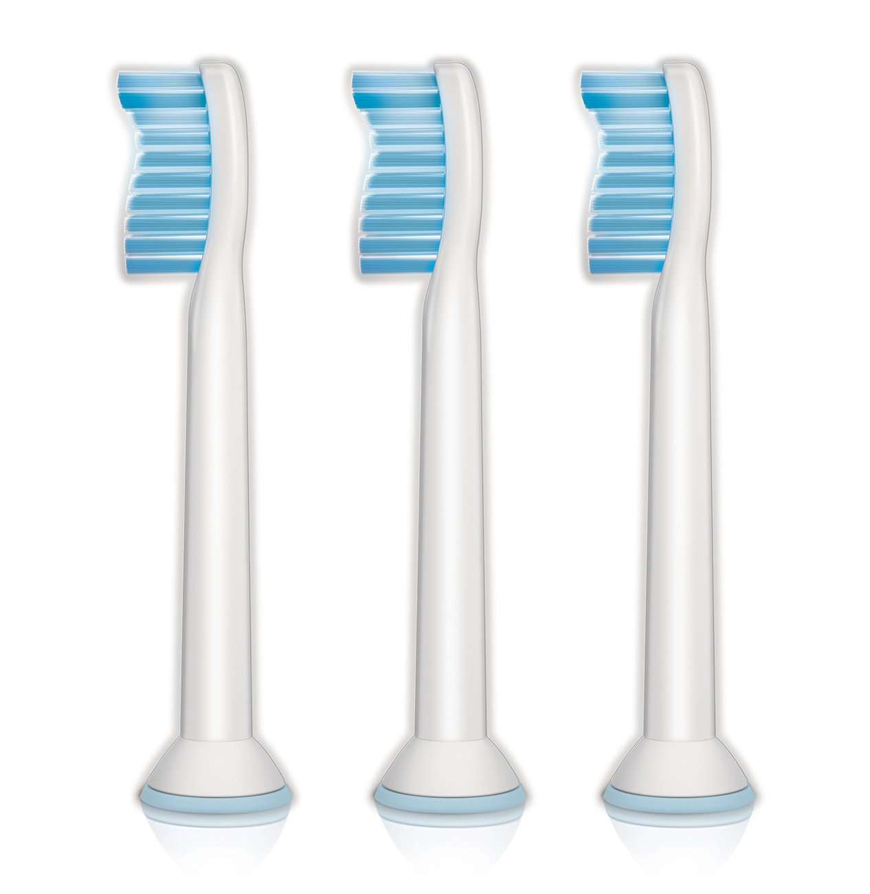 Genuine Philips Sonicare Sensitive replacement toothbrush heads for sensitive teeth, HX6053/64, 3-pk by Philips Sonicare